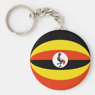 Uganda Fisheye Flag Keychain