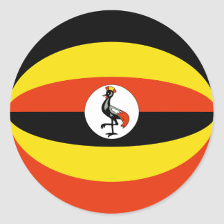 Uganda Fisheye Flag Sticker