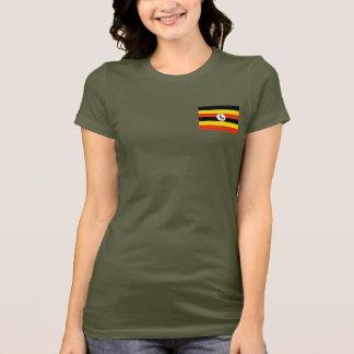 Uganda Flag and Map dk T-Shirt