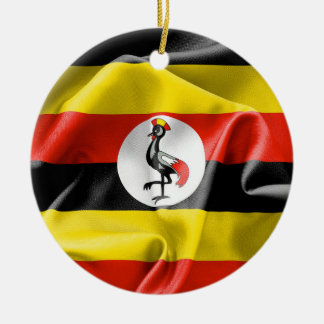 Uganda Flag Ceramic Ornament