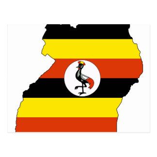 Uganda flag map postcard