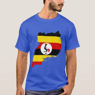 Uganda Flag Map T-Shirt