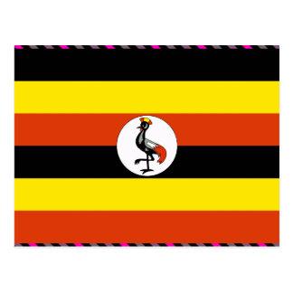 Uganda Flag Postcards