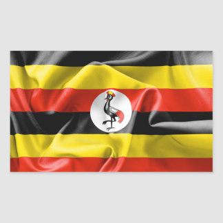 Uganda Flag Rectangular Sticker