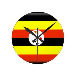 Uganda Flag Round Clock