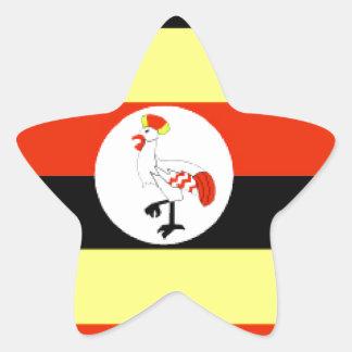 Uganda Flag Star Sticker