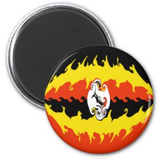 Uganda Gnarly Flag Magnet