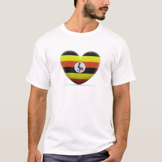 Uganda Heart Flag T-Shirt