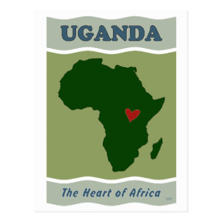 Uganda Heart of Africa Postcard