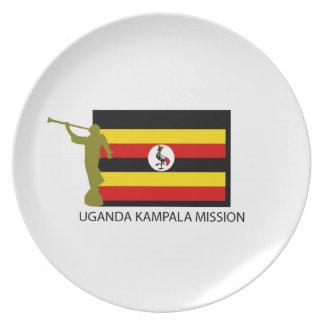 UGANDA KAMPALA MISSION LDS CTR DINNER PLATES