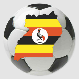 Uganda national team classic round sticker