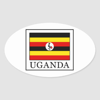 Uganda Oval Sticker