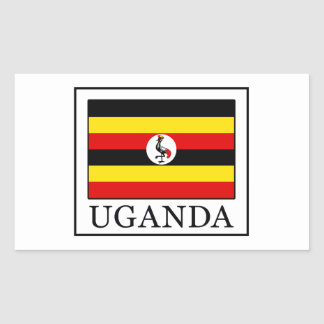 Uganda Rectangular Sticker