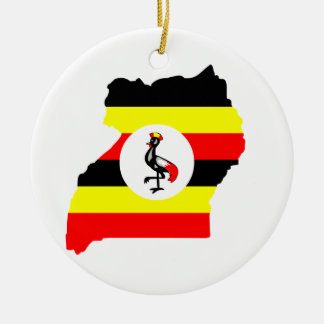 Uganda Round Ceramic Decoration