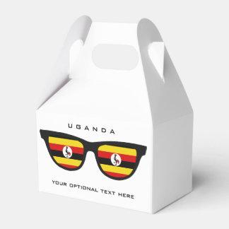 Uganda Shades custom text & color favor box