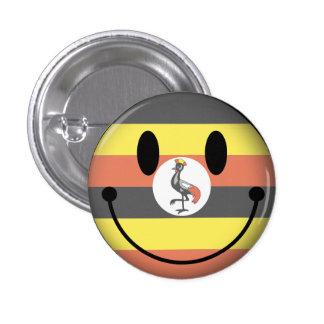 Uganda Smiley 3 Cm Round Badge