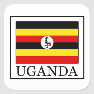 Uganda Square Sticker
