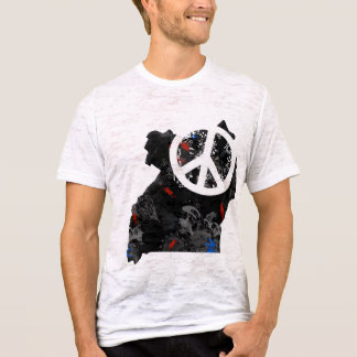 Uganda Trendy Peace Sign with Ugandan map T-Shirt