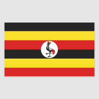 Uganda/Ugandan Flag Rectangular Sticker