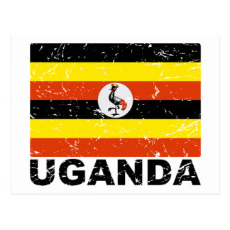 Uganda Vintage Flag Postcard