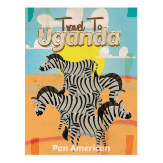 Uganda Vintage Travel Poster Postcard