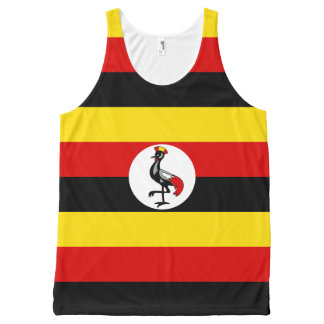 Ugandan flag All-Over print tank top