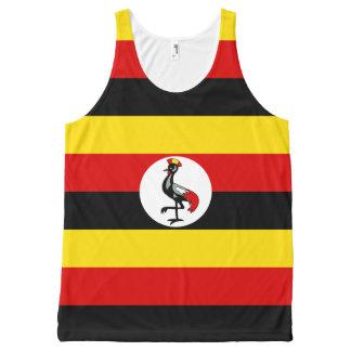 Ugandan flag All-Over print tank top