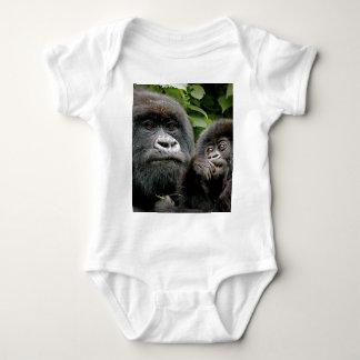 Ugandan Mother & Baby Gorilla Baby Bodysuit