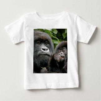 Ugandan Mother & Baby Gorilla Baby T-Shirt