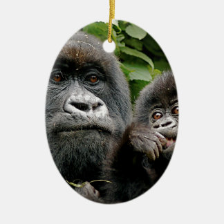Ugandan Mother & Baby Gorilla Christmas Ornament