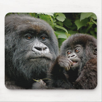Ugandan Mother & Baby Gorilla Mouse Mat