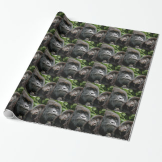 Ugandan Mother & Baby Gorilla Wrapping Paper