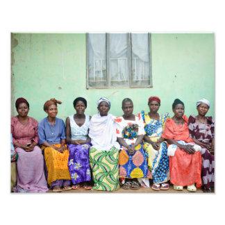 Ugandan tribal women photo print