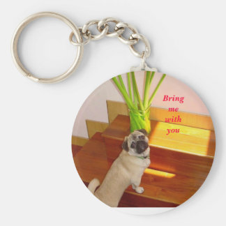 ugly 2 may 001, Bring me with you Basic Round Button Key Ring