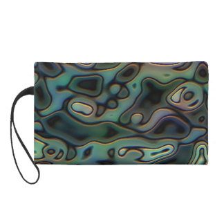 Ugly abstract pattern wristlet clutches