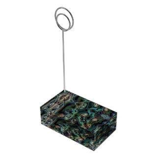 Ugly abstract pattern table number holder