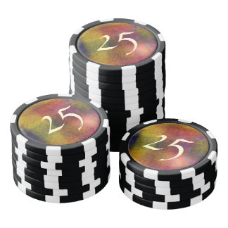 Ugly awful pattern poker chips