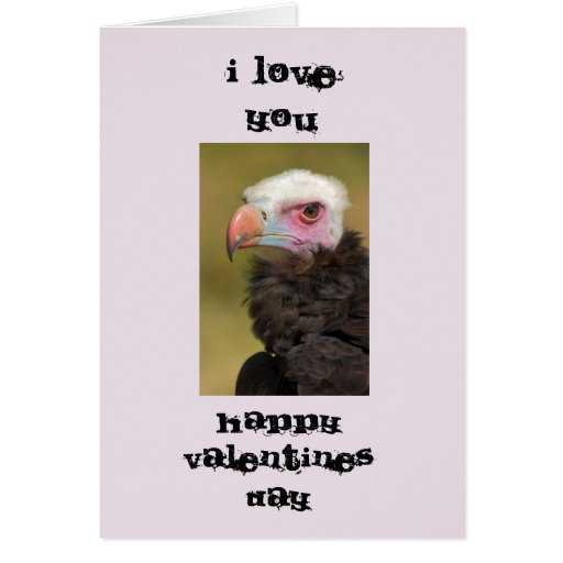 Ugly Bird Valentines Day Card Greeting Card