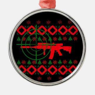 Ugly Christmas gun Christmas Ornament