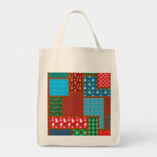 Ugly christmas pattern canvas bag