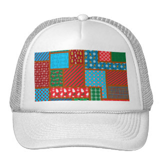Ugly christmas pattern mesh hat