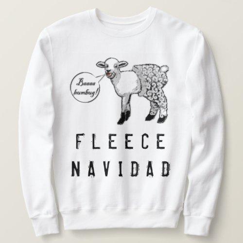 Ugly Christmas Sheep Fleece Navidad Sweater