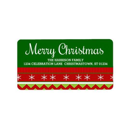 Ugly Christmas Sweater Address Labels