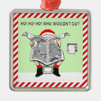 Ugly Christmas Sweater Awards Silver-Colored Square Decoration