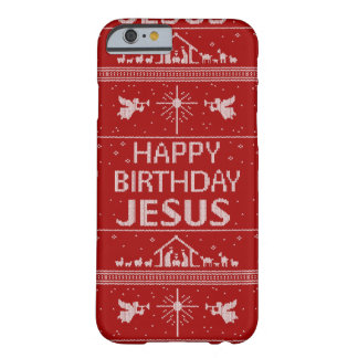 Ugly Christmas Sweater Christian Religious Red Barely There iPhone 6 Case