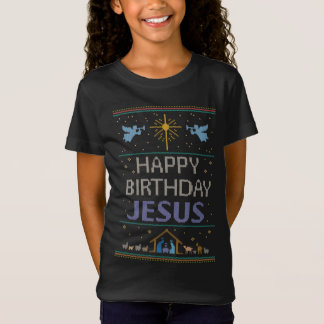 Ugly Christmas Sweater Color Happy Birthday Jesus