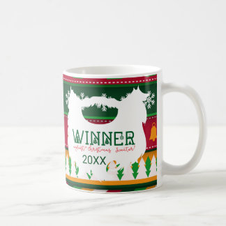 Ugly Christmas Sweater Competition Prize Mug