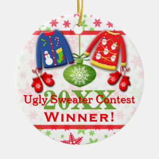 Ugly Christmas Sweater Contest Winner Ornament 2