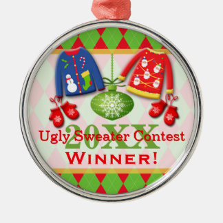 Ugly Christmas Sweater Contest Winner Ornament 6