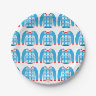 Ugly Christmas Sweater Gifts Presents Party 7 Inch Paper Plate